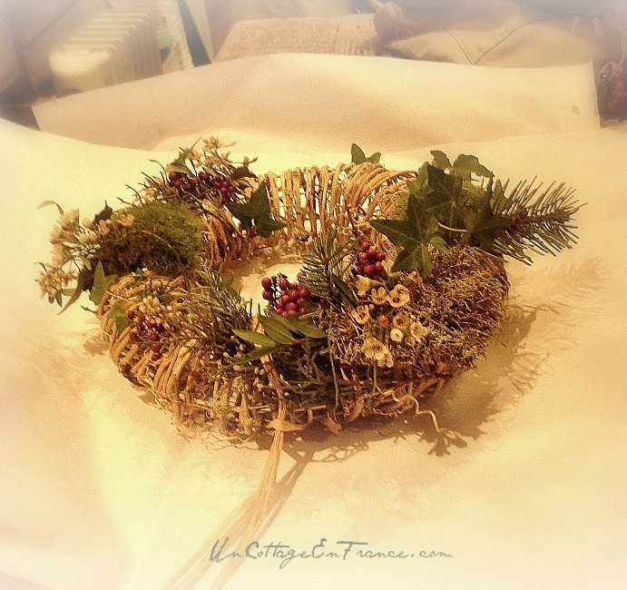 Couronne de Noel, Christmas wreath 1