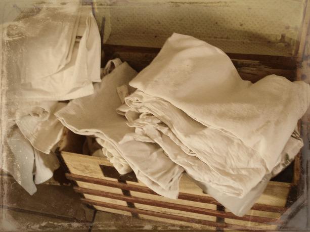 Utilisez vos vieux draps de lin - Use your old linen sheets