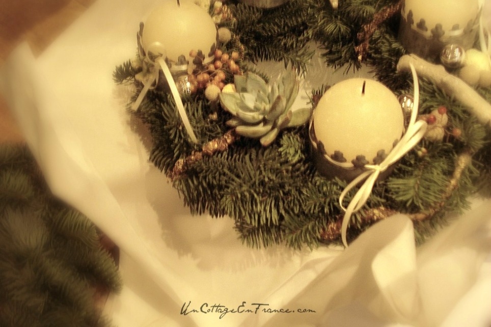 Couronne de Noel - French Christmas wreath 1