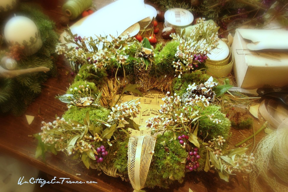 Couronne de Noel - French Christmas wreath 4