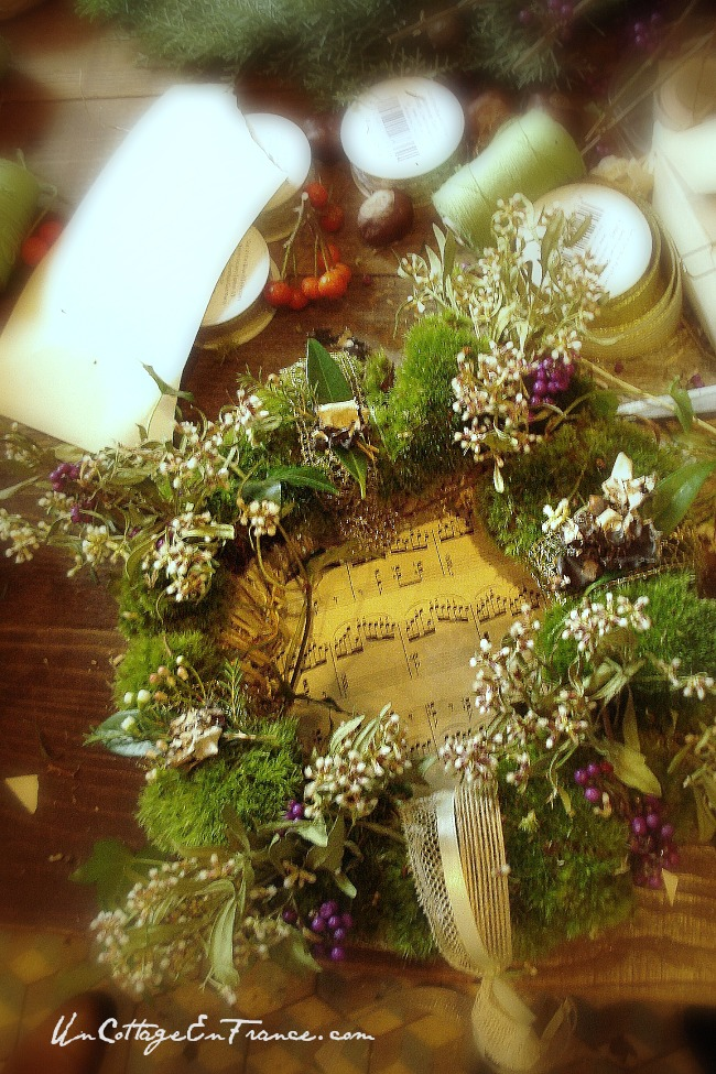 Couronne de Noel - French Christmas wreath
