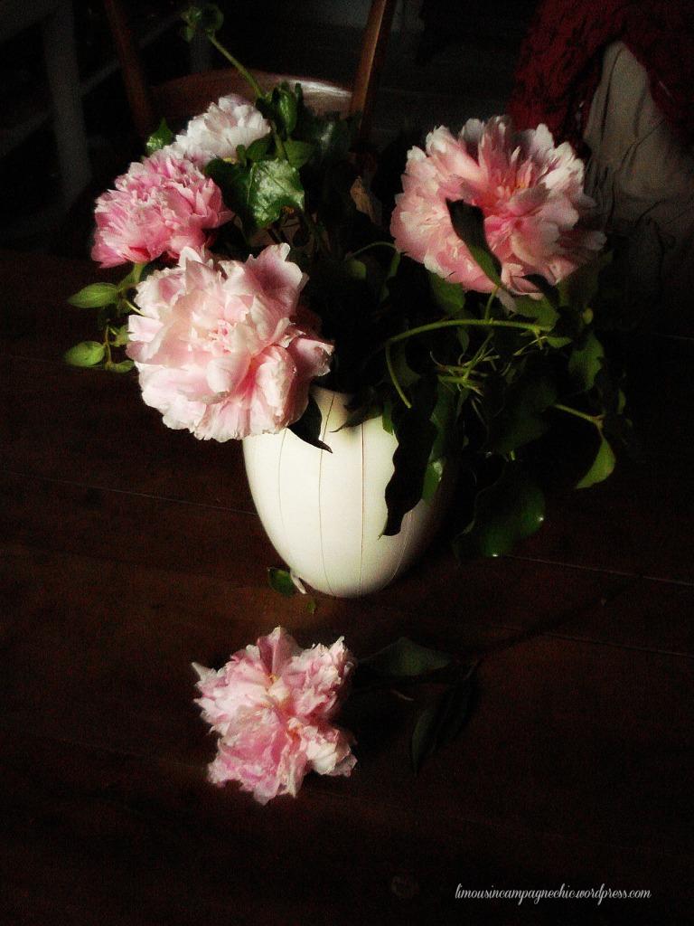 Bouquet de pivoines romantiques
