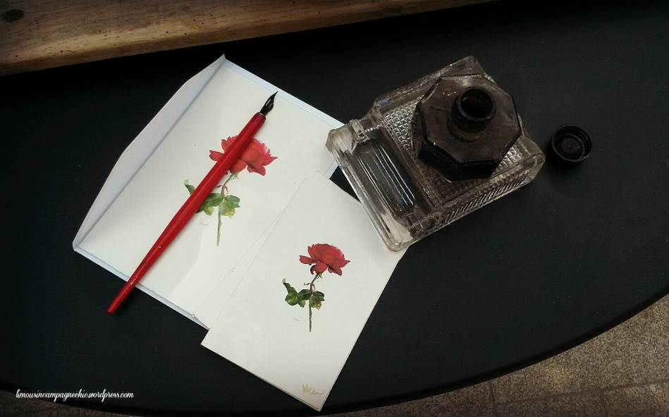 Carte de rose chez Collection Poetique - Red rose card at Collection Poetique's