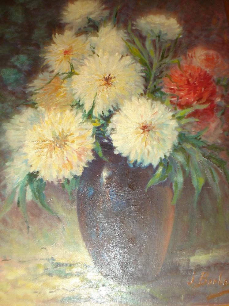 Dahlia tableau du musee de Chateauponsac