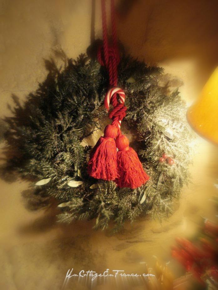 Couronne traditionnelle Noel - Un Cottage En France