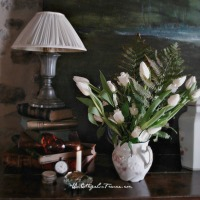 Un bouquet cottage de TULIPES BLANCHES pour commencer l'année (A WHITE TULIPS cottage bouquet to start the new year)