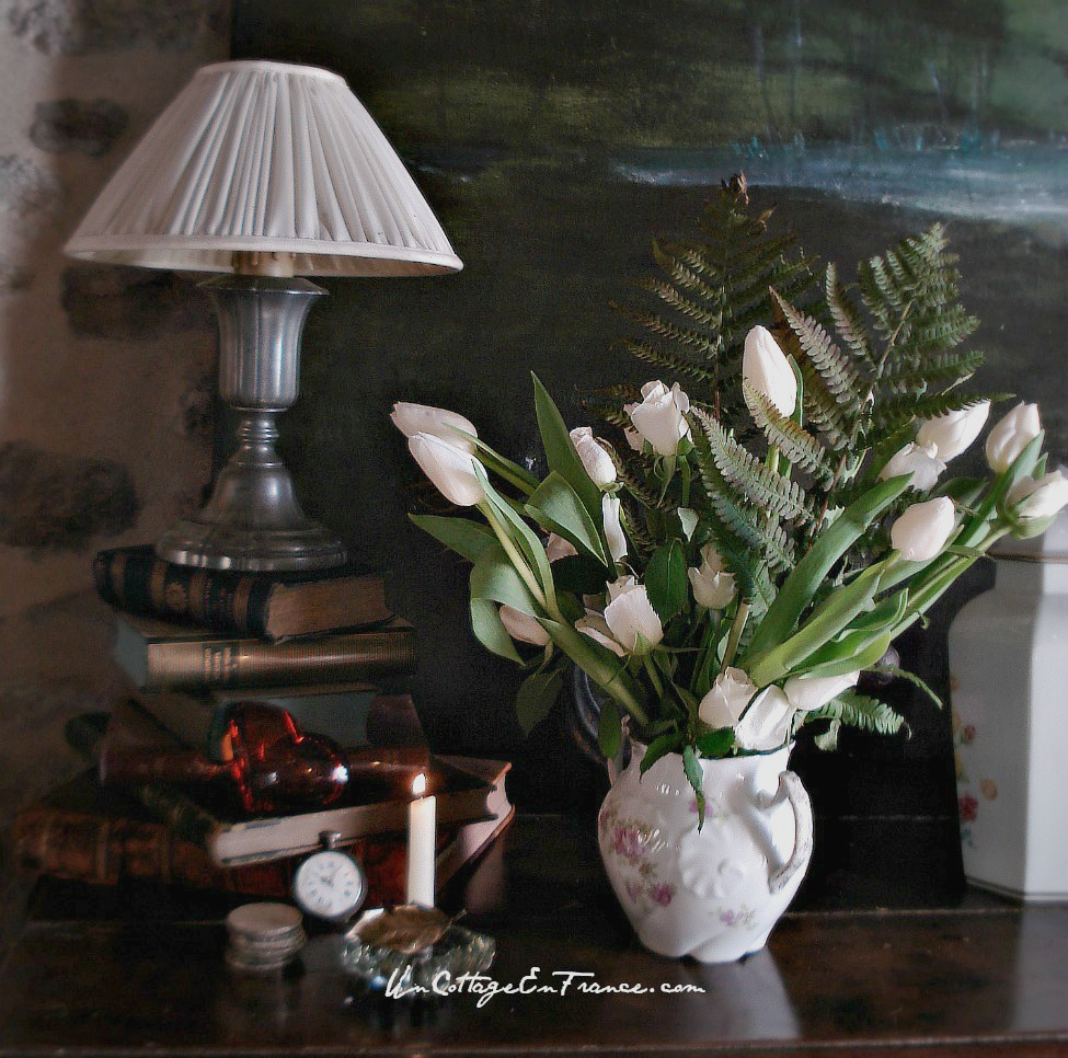 Cottage en France - le bouquet de tulipes
