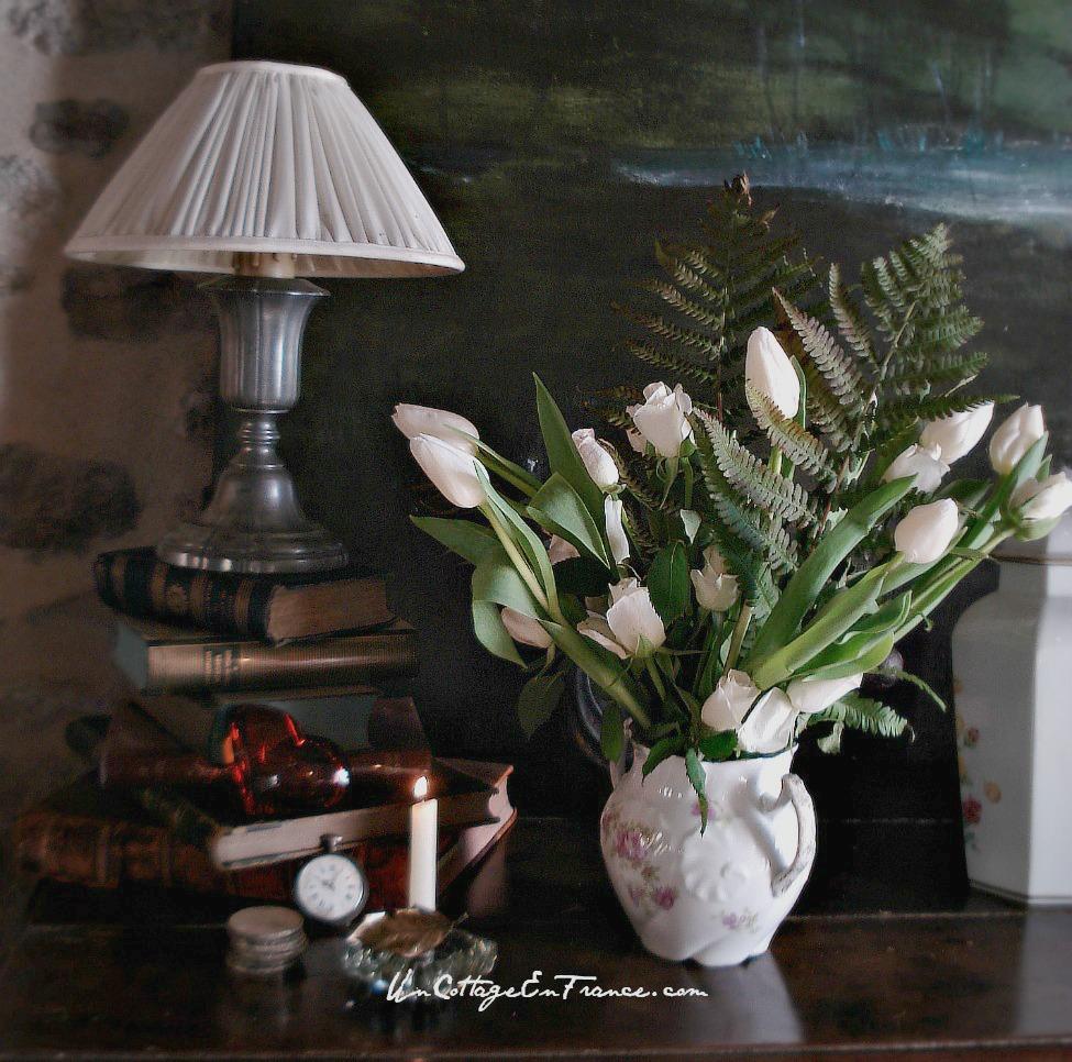 Cottage en France - le bouquet de tulipes