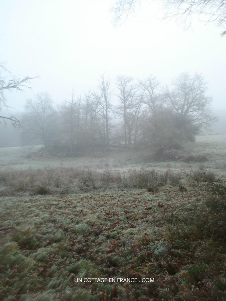Randonnée en Limousin en janvier