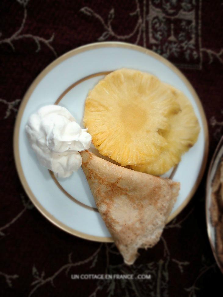 Soleil d'hiver crepe aux ananas Chandeleur en Limousin 00