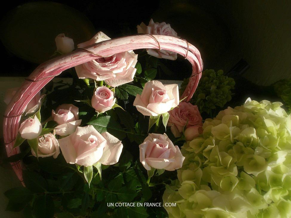 un coup de frais en rose blanc a white pink fresh blow un cottage en france. Black Bedroom Furniture Sets. Home Design Ideas