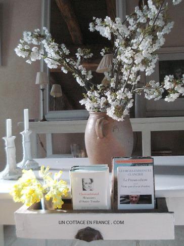 Table du salon Bouquet de fleurs de cerisiers