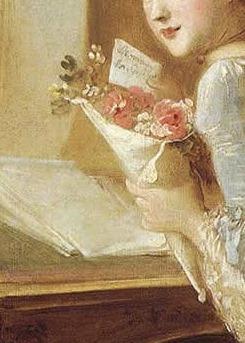 Frragonard, La Lettre d'Amour detail - Fragonard Le love letter detail