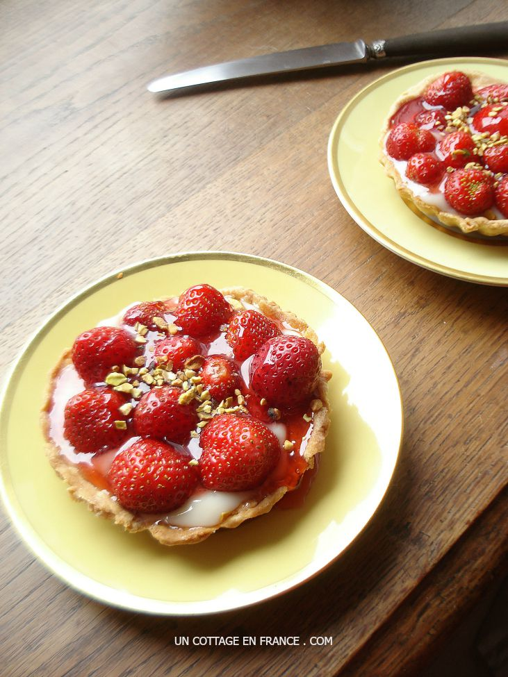 The French strawberry pies