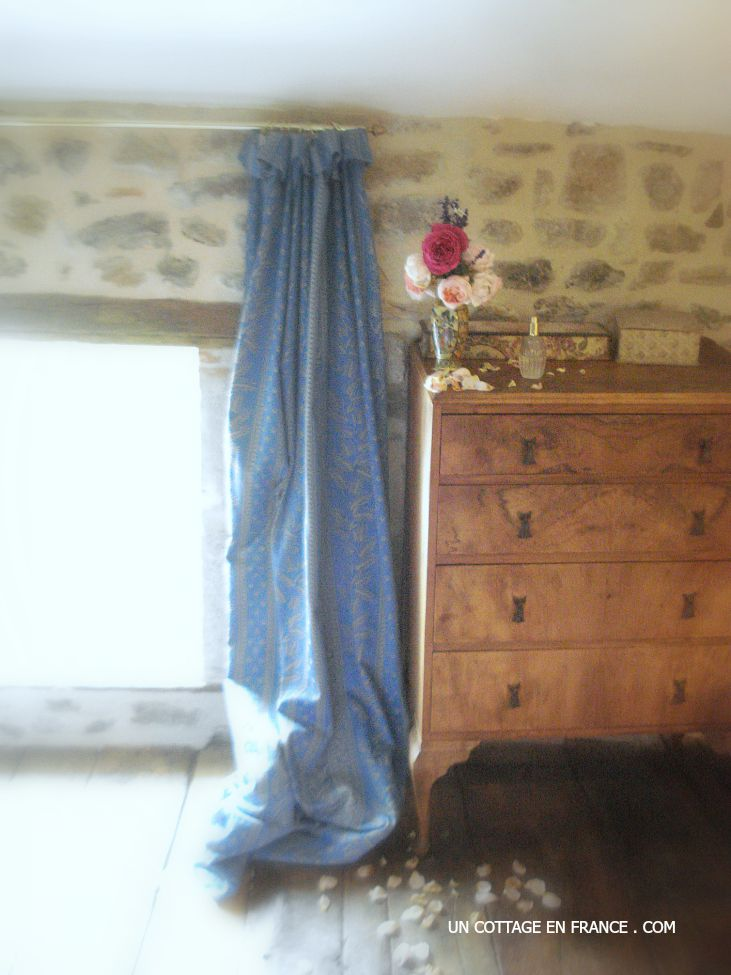 French vintage country interior, the cottage floral arrangement in the bedroom