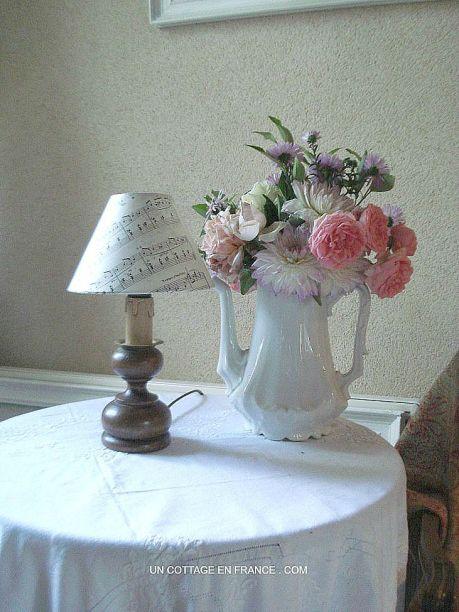 lampe, campagne chic, esprit de charme,french vintage design