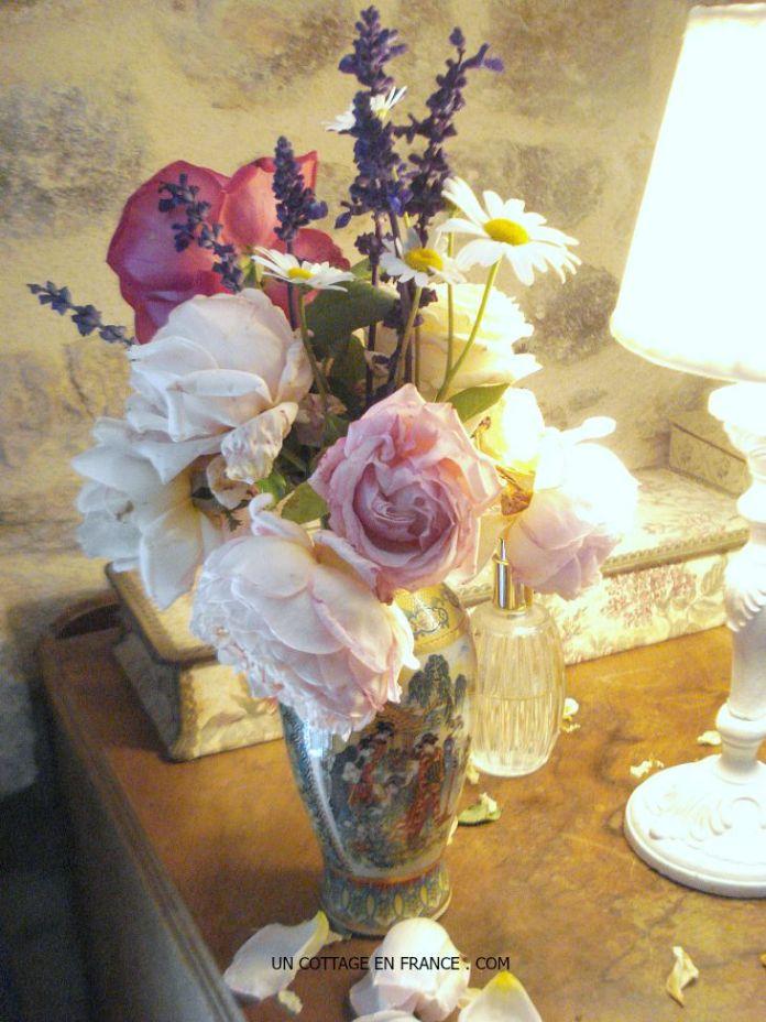 Le bouquet dans la chambre du cottage