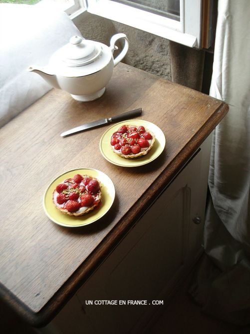 The French strawberry tartlets