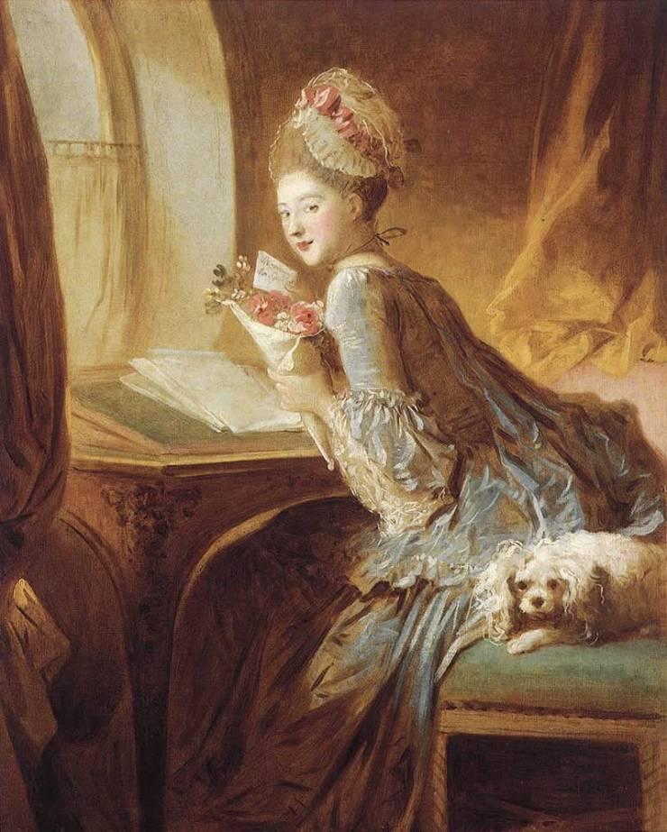 Frragonard, La Lettre d'Amou - Fragonard, The Love Letter