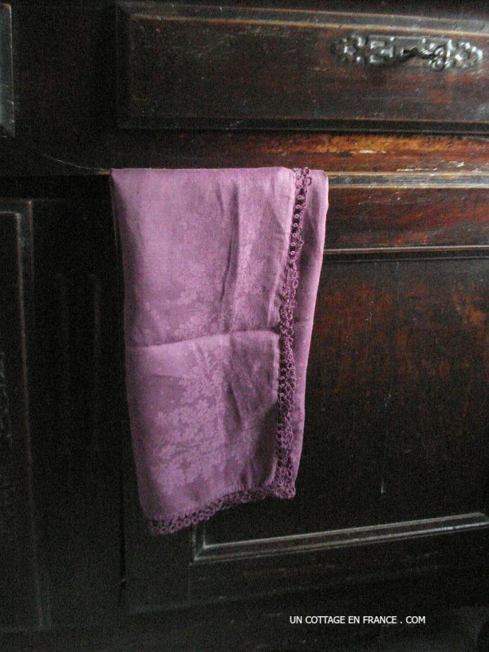 nappe violette campagne chic