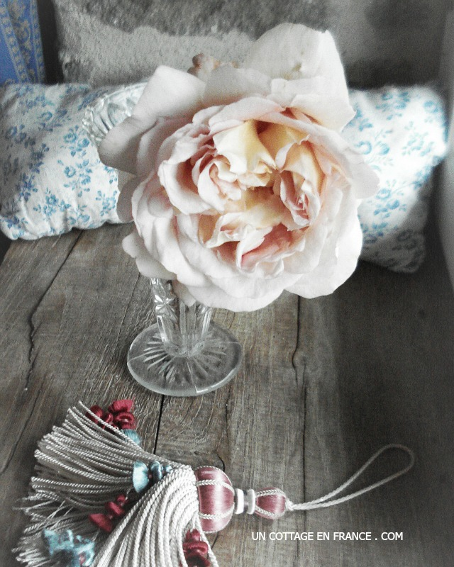 Rose et gland de passementerie 2