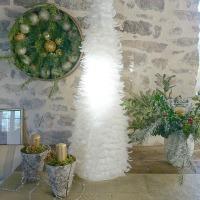 Plumes... : en arbre de Noël ou l'inverse    Feathers... : on a Christmas tree