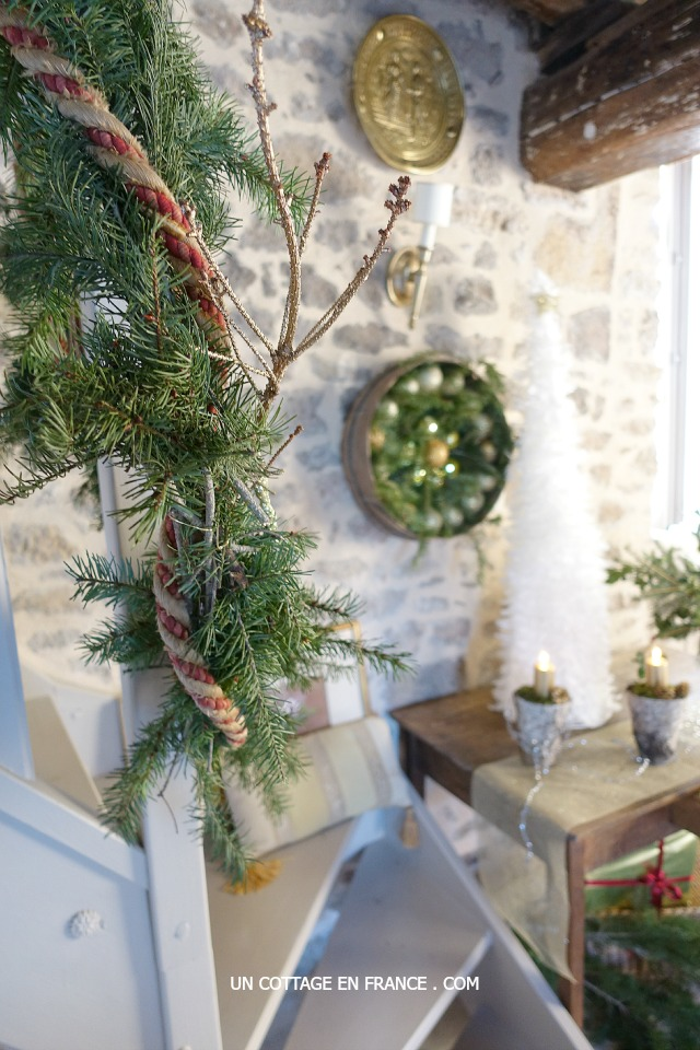 Couronne de noel cottage