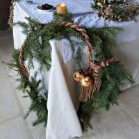 4 COURONNES de Noël cottage (Toying with 4 cottage Christmas WREATHS)