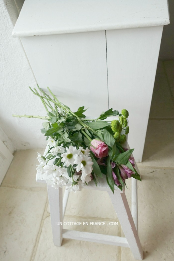 bouquet blanc violet rose 1