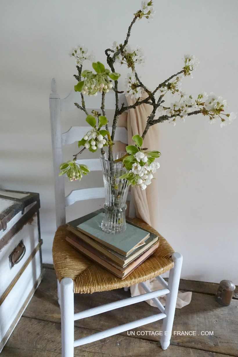 chaisse shabby chic cottage chic grise