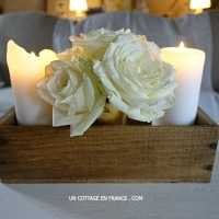 ROSES BLANCHES en boite (WHITE ROSES in a box)