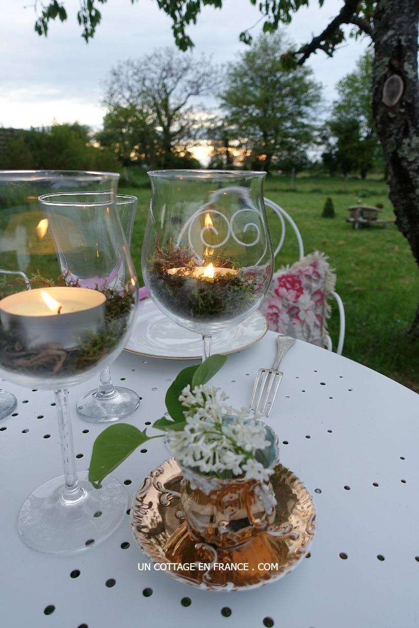 Diner esprit de charme - blog deco romantique Un Cottage En France 6