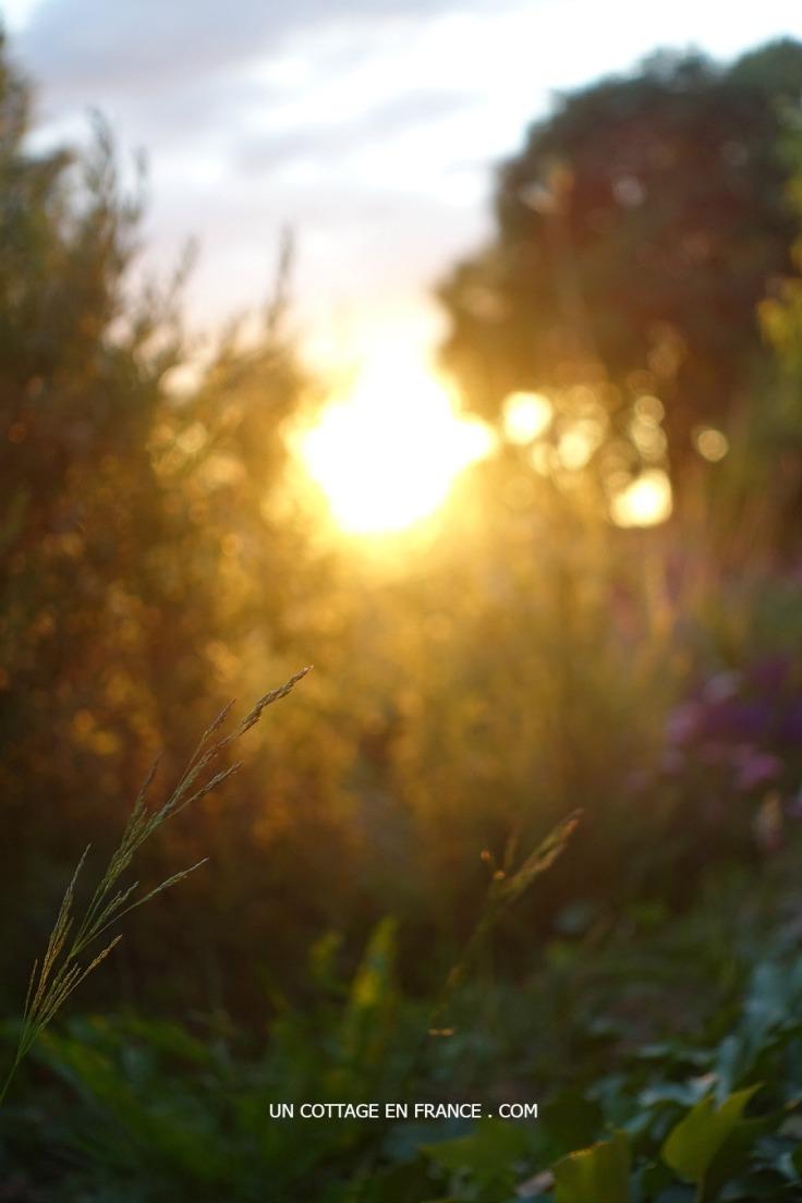 Coucher de soleil à Blanzac, blog campagne chic