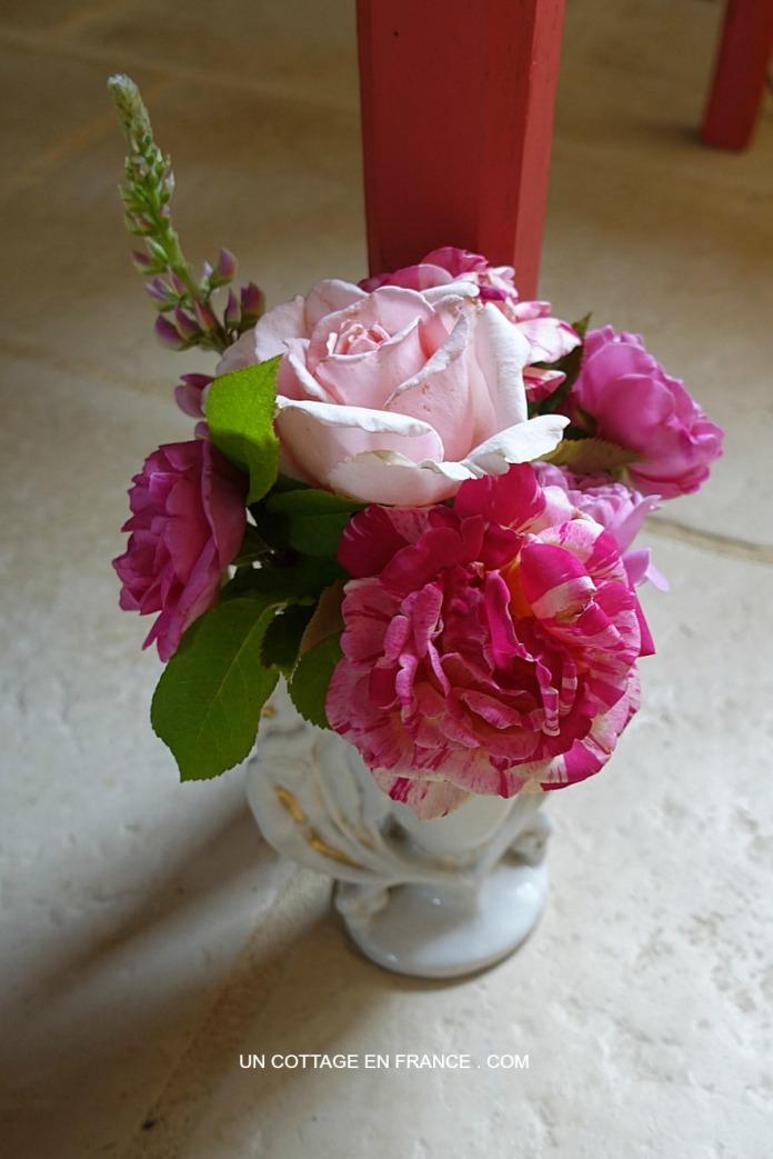 Bouquet de roses du cottage, blog maison et jardin