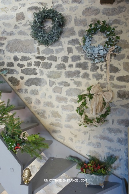 Blog campagne chic, couronne nouvel an, french vintage interior cottage