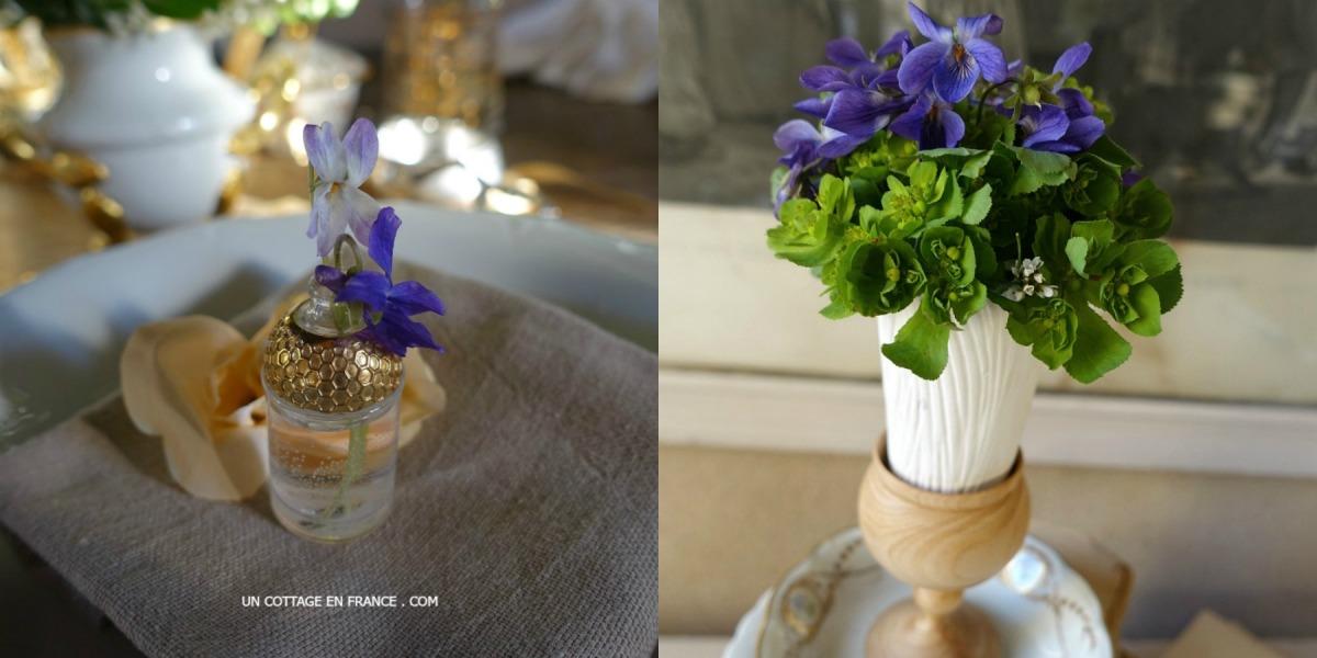 Petits vases de VIOLETTES (Little vases of violets) ♡