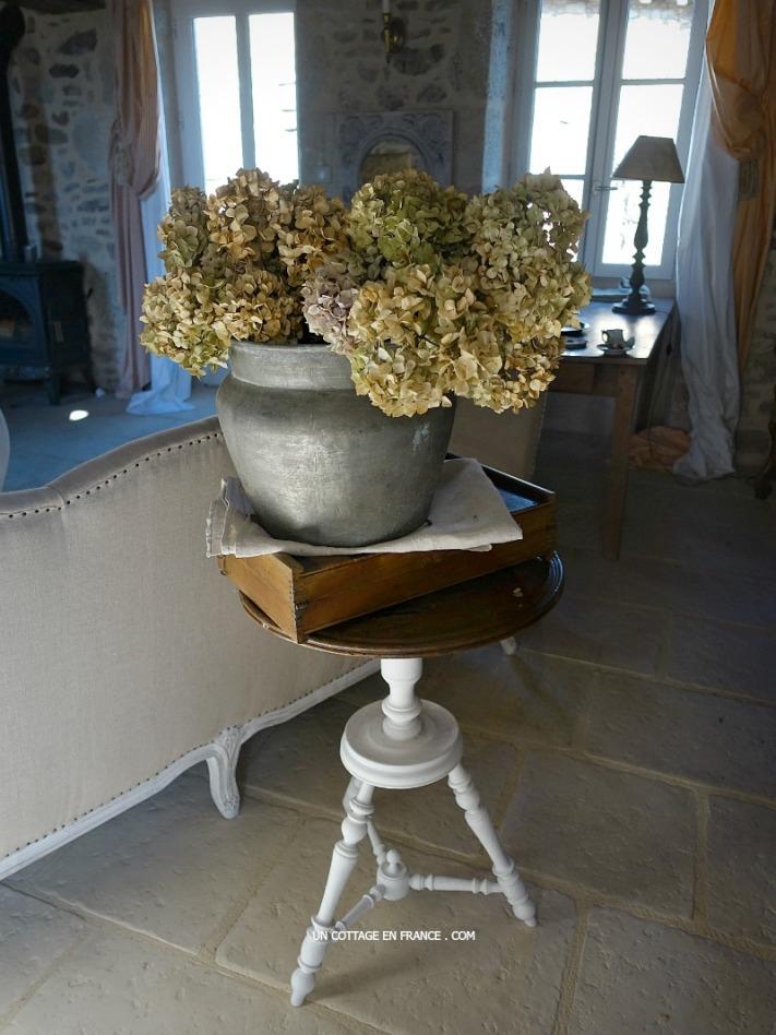 Le bouquet d'hortensias séchées, inspiration de fin d'hiver (The dried hortensias bouquet, end of winter inspiration)