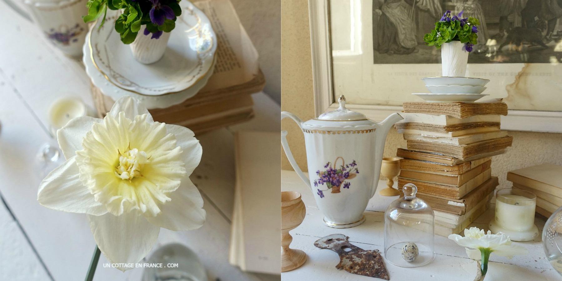 Bouquet jonquilles mars avril, Blog esprit cottage 20