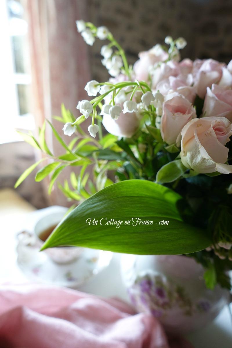 Bouquet de mai cottage, blog campagne chic, shabby chic français 18