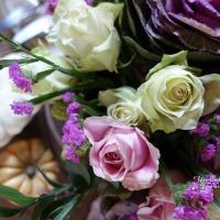 Intensément présent : un énorme bouquet d'automne rose et violet | Intensely present: a huge purple and pink Autumn bouquet