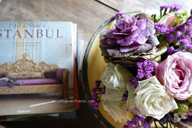 Le bouquet aux vibrations violettes en deuxième semaine