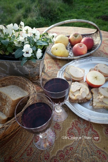 Snack au cottage foie gras (Foie gras snack)