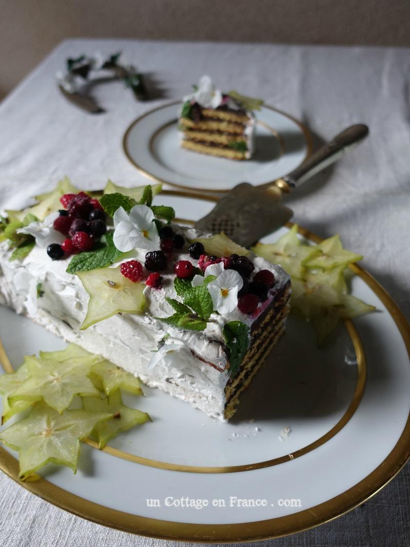 bûche gâteau nouvel an