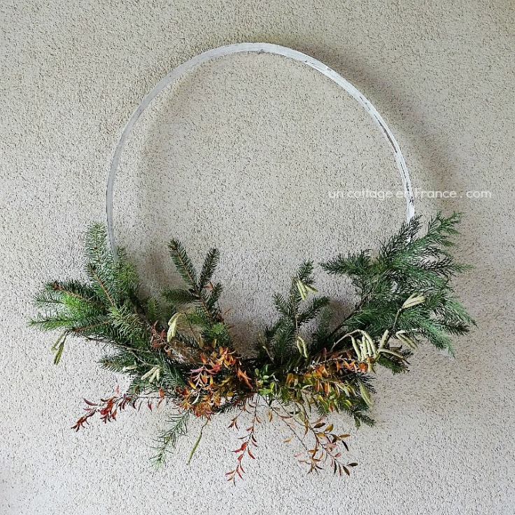 Couronne de Noël cottage (Cottage Christmas wreath)