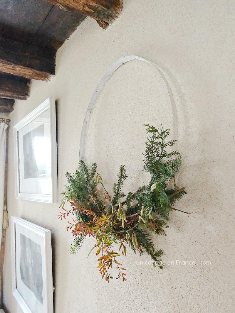 Couronne de Noël cottage