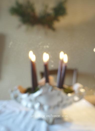 Les bougies de Noël dans la soupière, Un Cottage en France . com 2