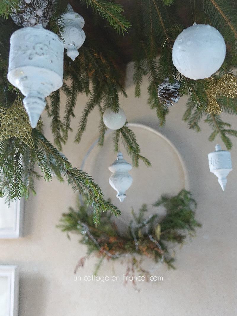 Les déco blanches de Noël 2017, blog cottage chic