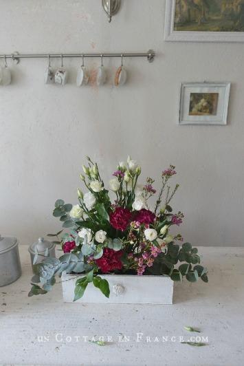 Bouquet cottage de février (February cottage floral arrangement)