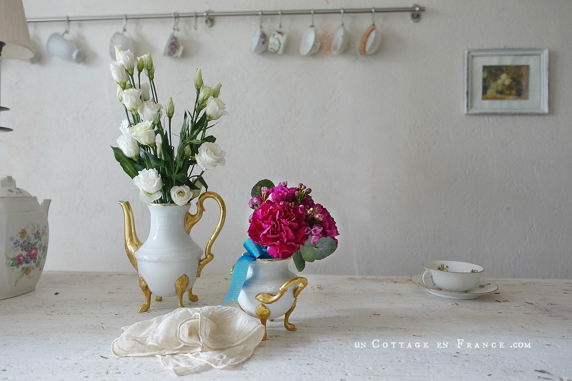 Bouquet d'oeillets de la Saint-Valentin (Valentine's day pink carnations) 3