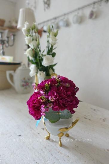 Bouquet d'oeillets de la Saint-Valentin (Valentine's day pink carnations)